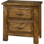 Maple Road-Antique Amish Night Stand - 2 Drawer