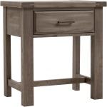 Chestnut Creek 1 Drawer Nightstand - Pewter