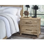 Dovetail-Sun Bleached White Night Stand Room Scene