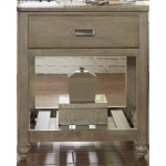 Rustic Gray Nightstand