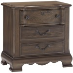Villa Sophia Traditional Night Stand with Scalloped Apron