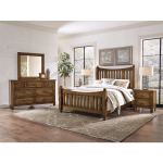 Maple Road Queen Slat Poster Bed with Slat Poster Footboard - Antique Amish
