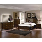 Spencer King Bookcase Storage Bed in Cherry