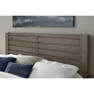 Highlands Queen Plank Headboard -Smoke Grey