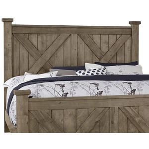 Cool Rustic King X Headboard - Stone Gray