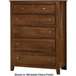 Artisan Choices-Rustic Cherry Loft Chest - 5 Drwr