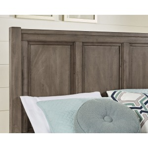 Chestnut Creek King Panel Headboard -Pewter