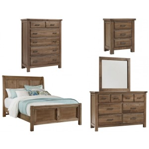 Chestnut Creek 5 PC King Bedroom Set - Fawn