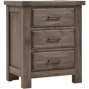 Chestnut Creek 3 Drawer Nighstand - Pewter