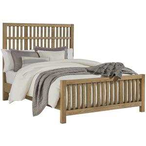 Artisan Choices-Natural Oak Cal King Craftsman Slat Bed With Slat Footboard