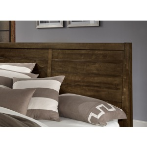 Sedgwick Queen Plank Headboard - Dark Maple