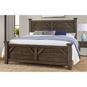 Chestnut Creek Queen Poster Bed -Truffle Dark