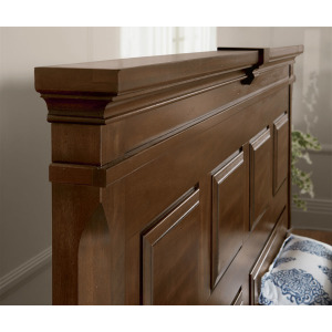 Heritage-Amish Mansion Queen Headboard - Cherry