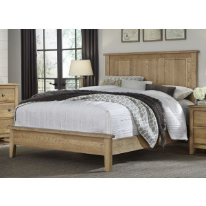 Artisan Choices Cal King Panel Bed with Low Profile Footboard - Natural Oak