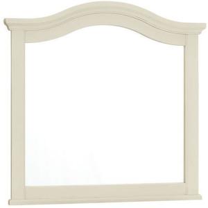 Casual Retreat-Shell White Landscape Mirror