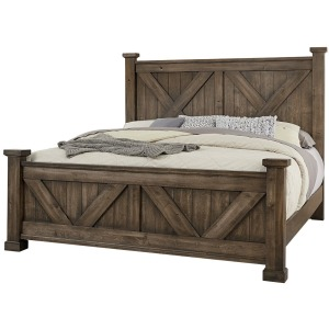 Cool Rustic Queen X Bed with X Footboard