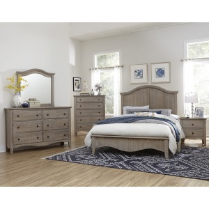 Casual Retreat 4 PC Queen Bedroom Set - Driftwood