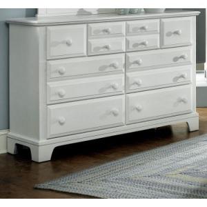 Hamilton Franklin 7 Drawer Storage Dresser - Snow White
