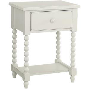 Leg Night Table - Cream