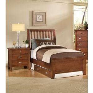 King Slat Storage Bed