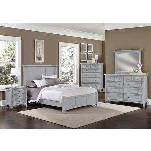 Bonanza 4 PC Queen Bedroom Set -Gray