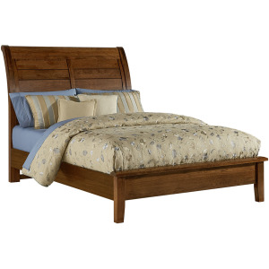 Artisan Choices Cal King Sleigh Bed with Low Profile Footboard