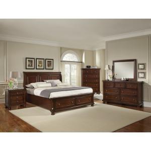 King Storage Mansion Bedroom Set - Dark Cherry