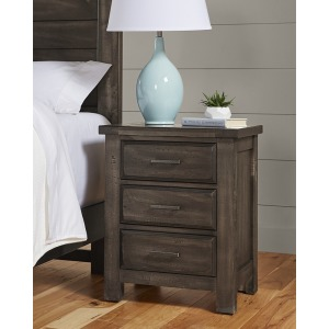 Chestnut Creek 3 Drawer Nighstand -Truffle Dark