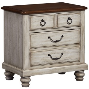 Artisan Choices-Amish Cherry Loft Night Stand - 2 Drwr