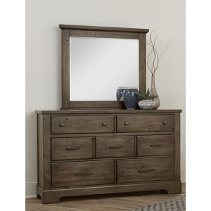 Cool Rustic Dresser with Mirror - Mink