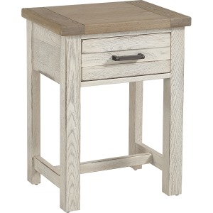 Highlands 1 Drawer Nightstand - Aged White