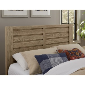 Highlands Horizontal Plank Queen Headboard - Sandstone