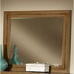 Reflections Landscape Mirror - Oak