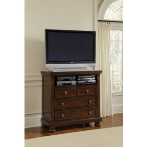 Reflections Entertainment Center - Dark Cherry