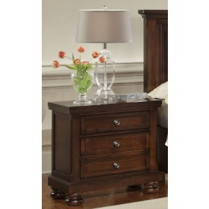 Reflections Night Stand - Merlot