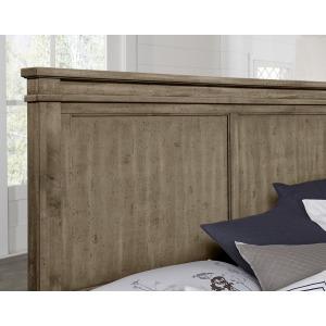 Cool Rustic King Mansion Headboard -Stone Grey