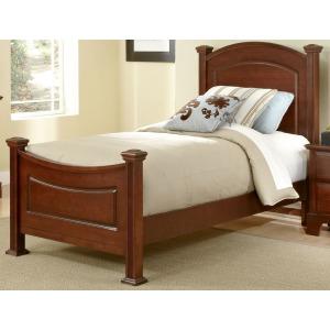 Barnburner Twin Panel Bed -Cherry
