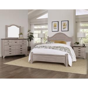 Bungalow 6 PC King Mantel  Bedroom Set - Dover Grey/Folkstone