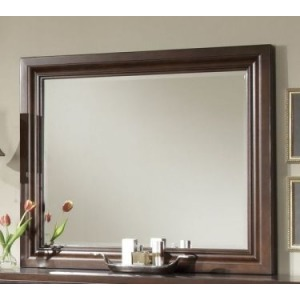 Reflections Landscape Mirror - Dark Cherry