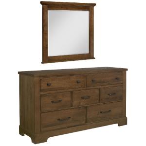 Chestnut Creek Dresser with Mirror - Amber