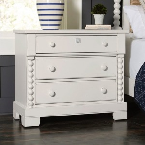 3-Drawer Night Stand - Cream