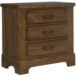 Cool Rustic 3 Drawer Night Stand - Amber