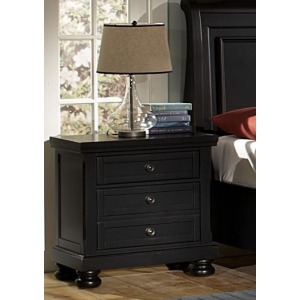 Reflections Night Stand - Ebony