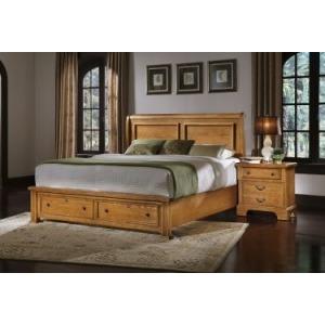 King Sleigh Storage Bed