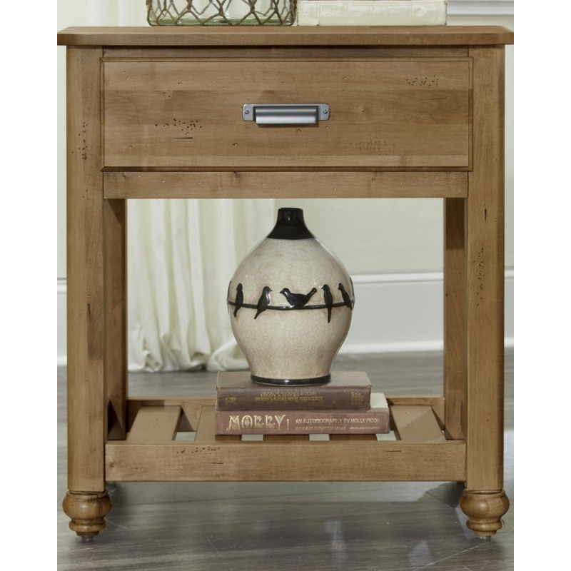 American Natural Maple Nightstand By