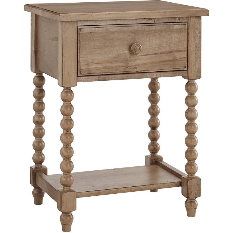 Leg Night Table Natural Maple By