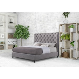 Christina Charcoal Queen Bed
