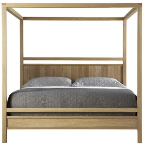Fulton King Wood Poster Headboard with Poster Canopy Footboard