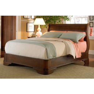 Louis Philippe Queen Sleigh Bed Headboard