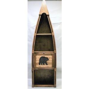Canoe Bookshelf with Cutout Bear